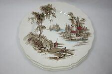 "Lot Of 3 Vintage 10"" Johnson Bros England ""The Old Mill"" Dinner Plates Genuine"