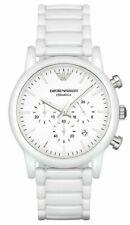 Emporio Armani Luigi White Ceramic Quartz 43mm Chronograph Men's Watch AR1499