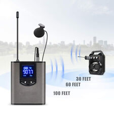 UHF Wireless Headset Microphone/Lavalier Mic LCD Display Transmitter + Receiver