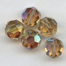 5000 10 LCTX *** 2 perles cristal Swarovski RONDES 10mm  LIGHT COLORADO TOPAZ AB