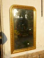 Specchiera Luigi Filippo dorata a Foglia oro 800 Specchio ORIGINALE 138x84 n36