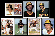 (42) SAN DIEGO PADRES 1981 TOPPS STICKERS-NM/MT-FINGERS, WISE, RICHARDS, CURTIS