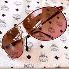 vintage MCM München 11 sunglasses gold Aviator 80s Germany no Dita Cazal medium