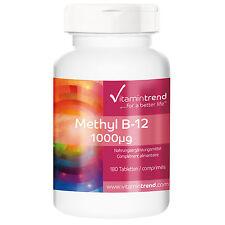 Methyl B12 1000µg - Methylcobalamin (39.89€/100g) 180 Tabletten - Vitamintrend
