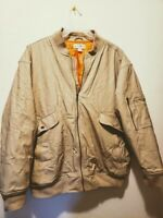 Mens Haband Puffer Coat Jacket Very Warm Heavy Size L Orange Quilted Lining VGC