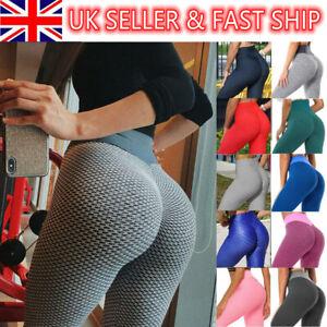 Women Anti-Cellulite Yoga Pants Push Up Leggings Bum Butt Lift Sport Gym Size*