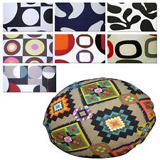 Flat Round Shape Cover*Geometry Cotton Canvas Floor Seat Chair Cushion Case*AL6