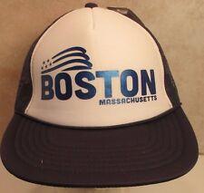 Boston Massachusetts Trucker Snapback Hat Cap Foamback Printed Unisex New