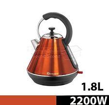 1.8L Litre Cordless Electric Kettle Fast Boil Jug Washable Filter 2200w Orange
