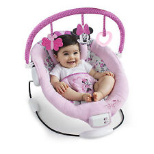 Disney Pink Minnie Mouse Garden Delights Baby Bouncer Infant Girl Basket Seat