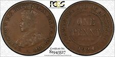 AUSTRALIA SCARCE 1924 INDIAN OBVERSE PENNY - PCGS GRADED VF35