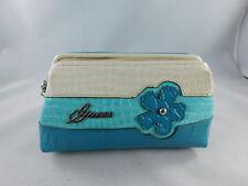 Guess Purse Bag Case Tri Color Blue White Flower Clutch