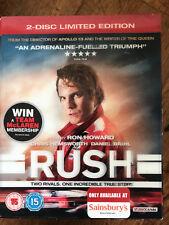 RUSH ~ 2013 F1 Racing Drama | Ltd Ed 2-Disc UK Blu-ray w/ Lenticular Slipcover