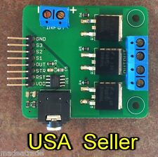 MSGEQ7+MOSFET breakout board (for RGB LED party lights) for Arduino, RPi, PIC