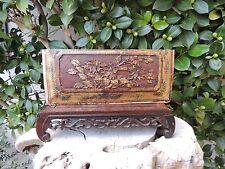 503. Antique Carved Gold Gilt Wood Panel w/  Flower