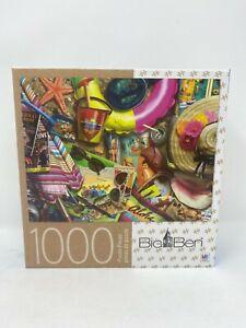 Milton Bradley Big Ben Vintage Holiday Puzzle 1000 piece New