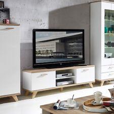 Lowboard Oslo TV-Board Unterschrank in weiß matt und Sanremo Eiche von Germania