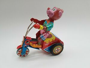 Tin Toy Friction YONEZAWA Tricky Tricycle -Working-