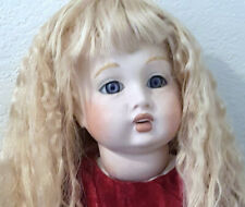 """BEBE JUMEAU 23"""" RARE Violet/ blown glass eyes Exquisite Reproduction . in MINT!"""