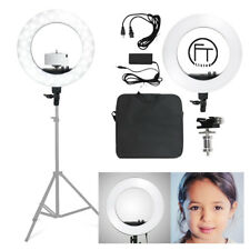 "Ring Light Continuous Photo Lighting 18"" LED 50W Dimmable Photography"