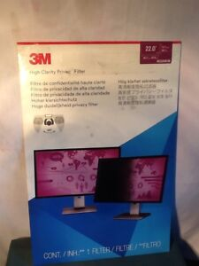 "3M HIGH CLARITY PRIVACY FILTER FOR 22"" MONITOR HC220W1B"