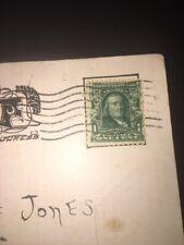 Series 1902 Benjamin Franklin 1 Cent Stamp And Postcard Nice !