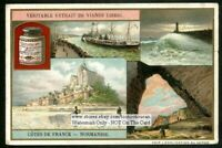 Normandy France Coast Le Harve Caen NICE c1910 Trade Ad Card