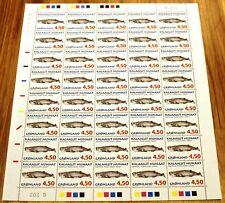 Greenland Full Sheet Marginal G202 1996 Whales I - Sperm Whale - Mnh
