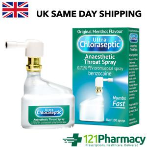 Ultra Chloraseptic Anaesthetic Sore Throat Spray 15ml - Original Menthol 100 spr