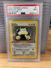 1999 Pokemon PSA 9 MINT 1st Edition Snorlax Holo - Jungle Set 11/64