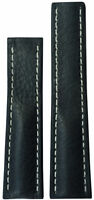 22x18 XL RIOS1931 for Panatime Charcoal Vintage Watch Strap For Breitling Deply