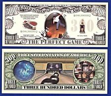 """1-Bowling """"Perfect Game""""Dollar Bill Collectible-Strike-Novelty- FAKE -MONEY-H2"""