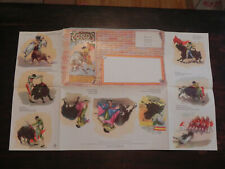 Spain Letter Sheet Postal Stationery Unused Bull Fighting Jcstg w55 Modelo A/51