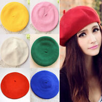 HA New Fashion Unisex Men Women Wool Warm Beret Beanie Hat Cap French Style Gift
