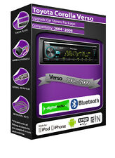 Toyota Corolla Verso DAB radio, Pioneer car headunit CD player, Bluetooth kit
