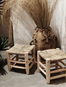Handmade Berber wicker stool