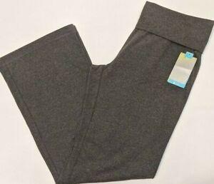 TEK GEAR FIT&FLARE YOGA SWEATPANTS PANTS Women's Medium M Charcoal Heather NWT