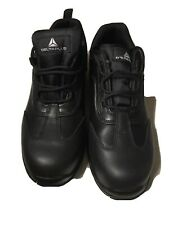 NEW MENS BLACK LEATHER STEEL TOE CAP SAFETY WORK BOOTS