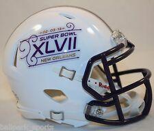 SUPER BOWL 47 XLVII - Riddell Speed Mini Helmet