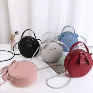 Women Bag Round Messenger Bag Mini Circular Small Crossbody Bag Purse Handbag#