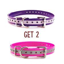 "Sparky PetCo 3/4"" 1 Pink  & Purple Reflective Roller Buckle High Flex Dog Strap"