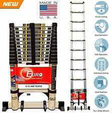 Telescopic Ladder Euro Model 4.4 mtr - Wheel Kit -Ultra Stabilizer -Soft Close