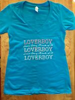 "Official Lover Boy Concert Woman's Small ""Lovin Every Minute of It"" Tour Shirt"