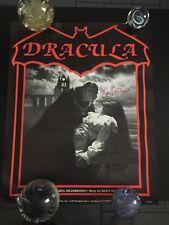 New listing 1985 Dracula Promotional Poster Signed Autograph Greg Hildebrandt-Bram Stoker