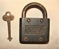 RARE Heavy Antique Yale & Towne Padlock with Original key * #4