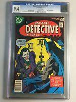 "Detective Comics  475 - CGC 9.4 - Iconic Joker ""Fish"" cover"