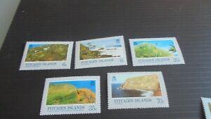 PITCAIRN ISLANDS 1981 SG 211-215 LANDSCAPES MNH