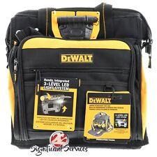 DeWalt DGL573 41 bolsillo LED iluminada Pro técnico Bolsa De Herramientas Portador De Caja Nuevo