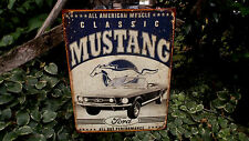 Ford Mustand Collectible Garage Shop Mancave Tin Advertising Wall Decor Sign New