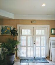 "Solid Wood Interior Plantation Shutters_White_26 1/4""W x 58""L _3 1/2""Louvers (C)"